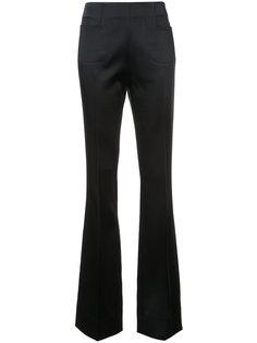 атласные расклешенные брюки Roland Mouret