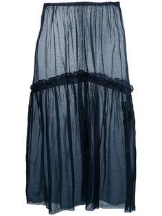юбка миди с оборками Cityshop