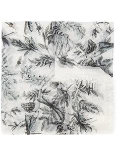 платок Eagle & Leaves Alexander McQueen