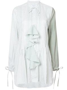 полосатая блузка с каскадными воланами J.W.Anderson
