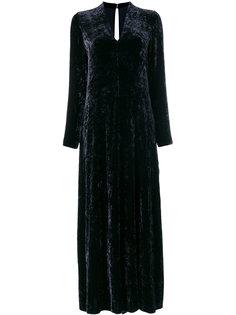 бархатное расклешенное длинное платье Forte Forte
