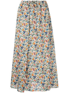 юбка миди с цветочным принтом Cityshop