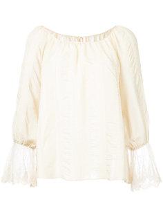 блузка с открытыми плечами  Cityshop