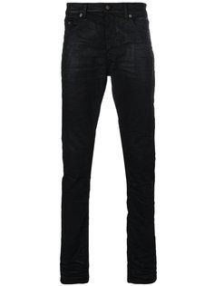 джинсы с низкой посадкой с отблеском Saint Laurent