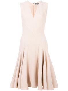 расклешенное платье с V-образным вырезом Alexander McQueen