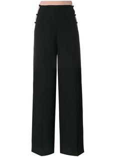 брюки-палаццо с полосками по бокам  Valentino