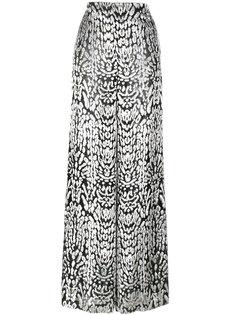 широкие брюки с леопардовым принтом  Adam Lippes
