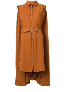 платье-рубашка с поясом  Mm6 Maison Margiela