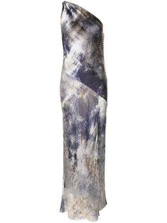 платье на одно плечо с принтом Christian Dior Vintage