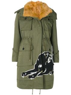 куртка с капюшоном  с заплаткой в виде пантеры Valentino