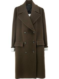 свободное пальто на пуговицах  Maison Margiela