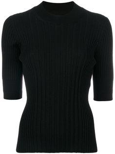 свитер в рубчик с укороченными рукавами  Maison Margiela