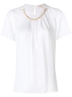 блузка с цепочной отделкой Michael Michael Kors