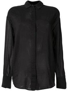 прозрачная рубашка с потайной застежкой Forte Forte