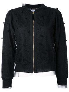 куртка-бомбер с сетчатой отделкой в горох Muveil