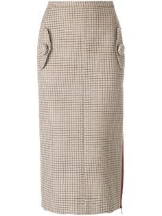юбка-карандаш с разрезом на молнии Nº21