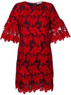 кружевное платье с цветочным дизайном Tory Burch