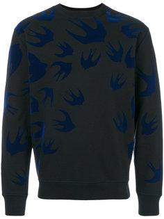свитер с ласточками McQ Alexander McQueen
