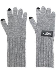 трикотажные перчатки с логотипом Kenzo