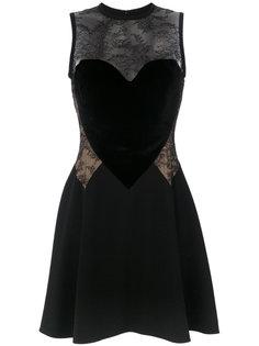 платье с кружевной вставкой Elie Saab
