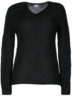 классический трикотажный свитер  Saint Laurent