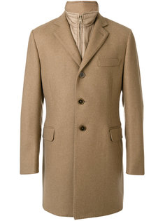 классическое пальто строгого кроя Fay