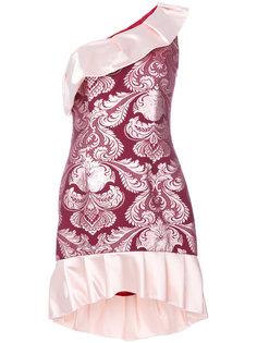 жаккардовое платье на одно плечо  Christian Pellizzari