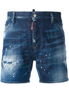 джинсовые шорты с выбеленным эффектом Dsquared2