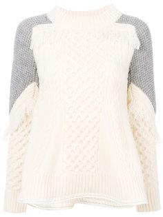 трикотажный свитер колор блок  Sacai