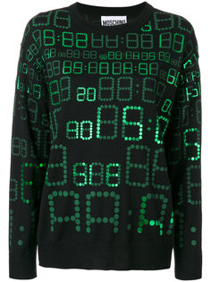 свитер с цифровым принтом  Moschino
