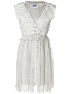 трикотажное платье с прозрачным слоем Chanel Vintage
