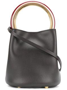сумка с круглой ручкой-кольцом Marni