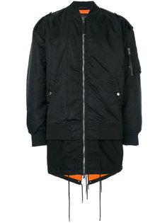 удлиненная куртка-бомбер Diesel Black Gold