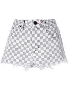 checkered denim shorts Alexander Wang