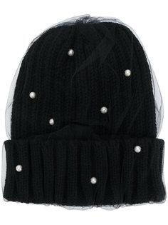 двухслойная вязаная шапка Ca4la