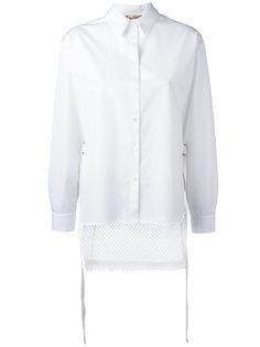 рубашка с панелью в сетку Nº21