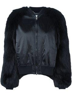 куртка-бомбер с меховыми рукавами Givenchy