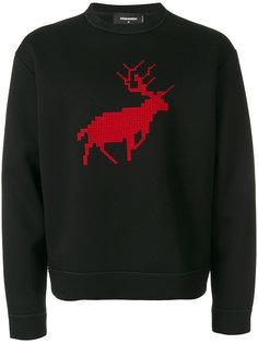 свитер с вышивкой Dsquared2