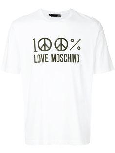 футболка с принтом 100% Love Moschino