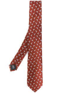галстук с фламинго Lanvin