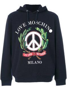 толстовка с капюшоном с принтом We Trust Love Moschino