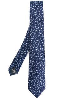 галстук с узором птиц Lanvin