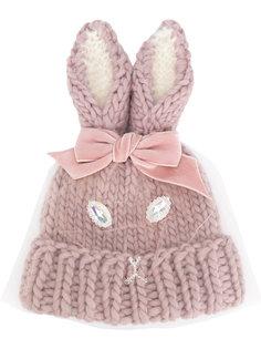 вязаная шапка с кроличьими ушами Ca4la