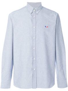 рубашка на пуговицах с вышивкой лисы Maison Kitsuné