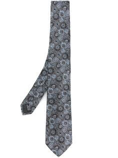 галстук с цветочным принтом Lanvin