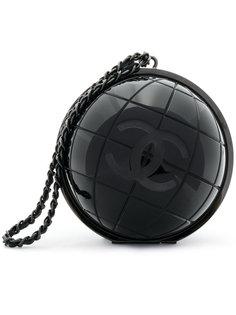 мини сумка с тиснением логотипа Chanel Vintage
