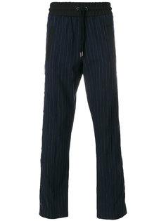 прямые брюки в тонкую полоску Palm Angels