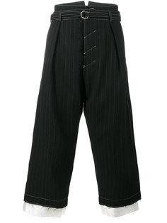 укороченные брюки в тонкую полоску Sulvam