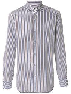 полосатая рубашка со скошенным воротником Barba