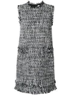 платье шифт с вышивкой  MSGM